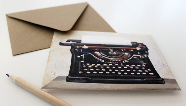 Typewriter Fold Note | Set of 10
