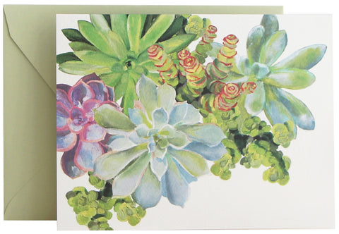 Succulents Fold Note | Set of 10