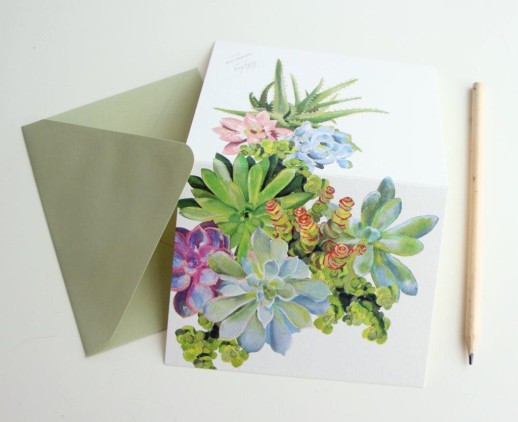 Fold Notes | Succulents
