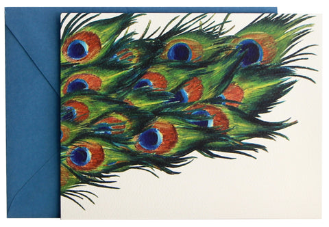 Peacock Fold Note | Set of 10