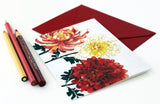 Chrysanthemums Fold Note | Set of 10