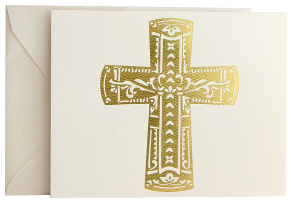 Fold Notes | Gold Foil Cross