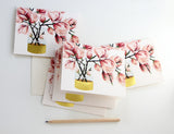Magnolias + GOLD Fold | Set of 8