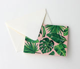 Fold Notes | Lush Leaves + Pink