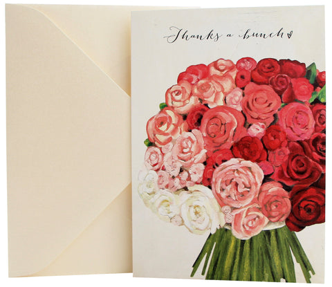 Thank You Card | Rose Bouquet