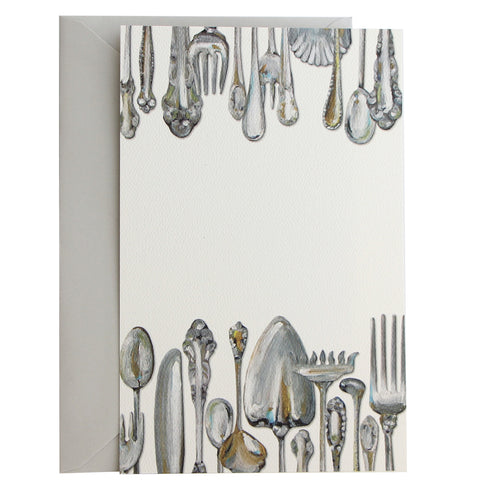Sterling Flatware Invitation | Set of 10
