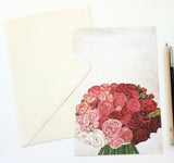 Rose Bouquet Invitation | Set of 10