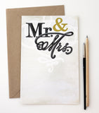 Invitation | Mr. & Mrs. + Gold Foil