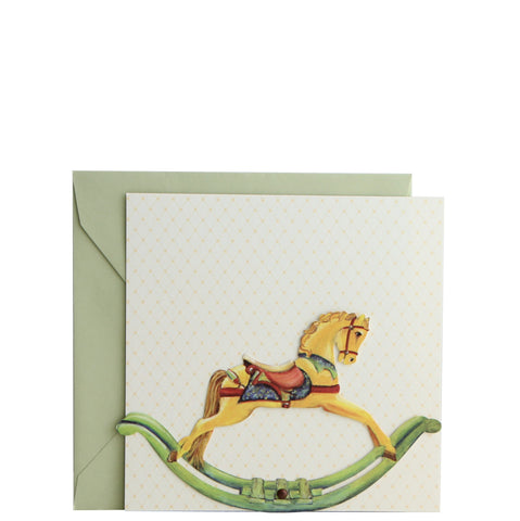 Rocking Horse Die Cut Invitation | Set of 10