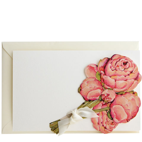 Peony Die Cut Invitation | Set of 10
