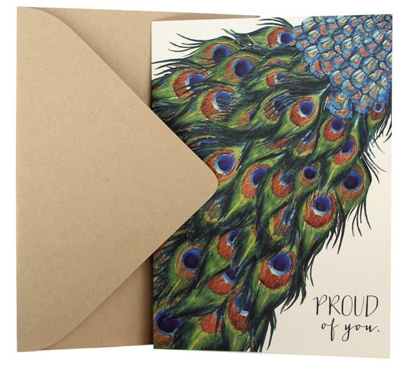 Graduation / Well Done Card | Peacock