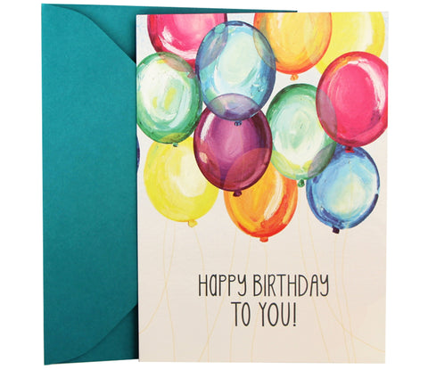 Birthday Card | Party Balloons