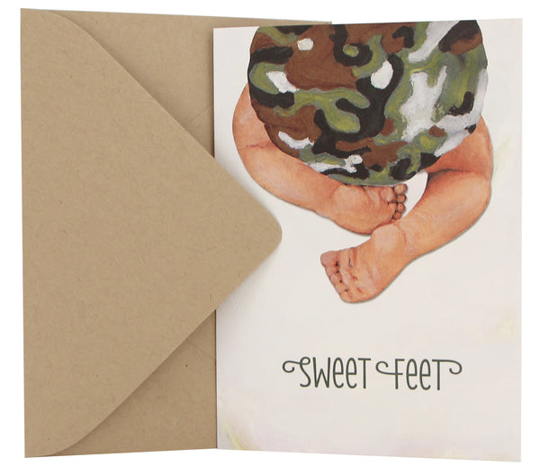New Baby Card | Camo Bloomer
