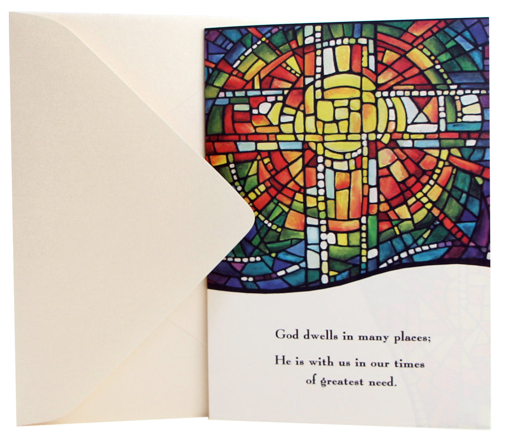 Sympathy Card | Stained Glass Window