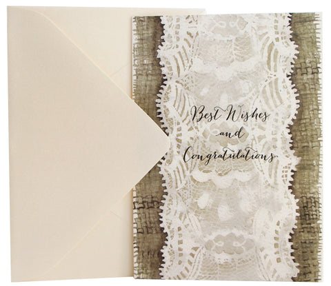 Wedding Card | Burlap & Lace