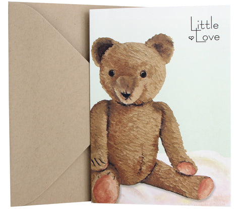 New Baby Card | Vintage Teddy Bear