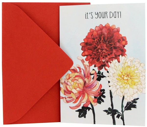 Birthday Card | Chrysanthemums