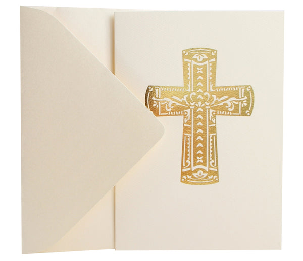 Religious Card | Gold Foil Cross