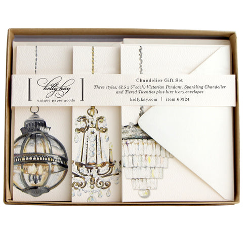 Chandelier Trio Flat Notes | Set of 15