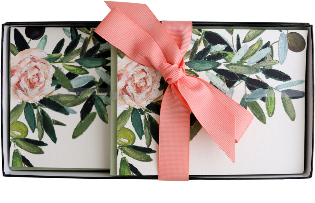 Stationery Gift Box | Olive Leaf