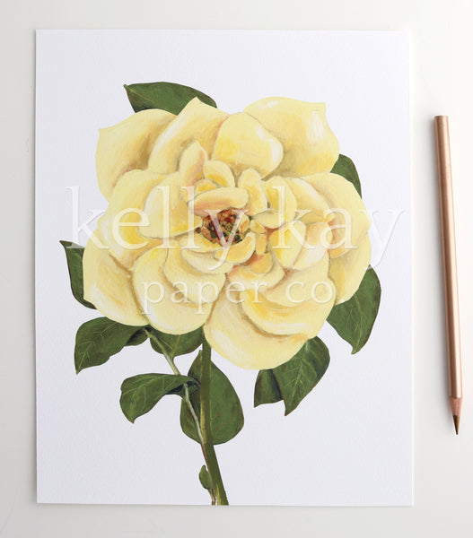 Art Print | Yellow Rose