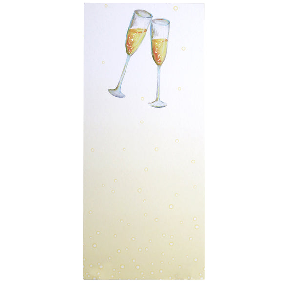 Luxe Paper Pad | Champagne Flutes