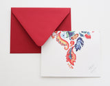 Fold Notes | Whimsy Red + Blue Fold