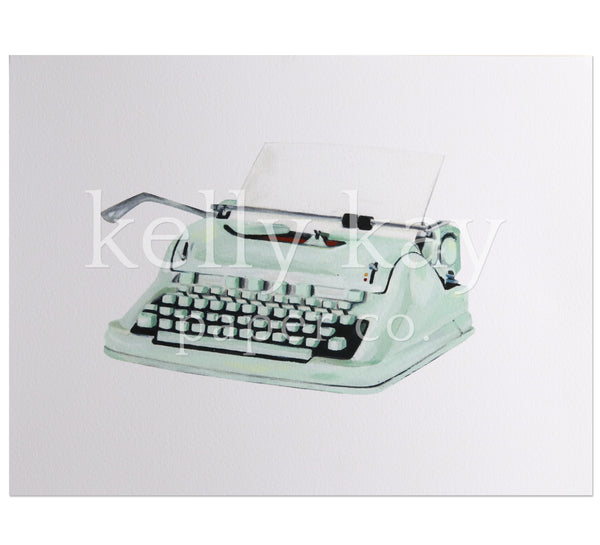 Art Print | Mint Typewriter