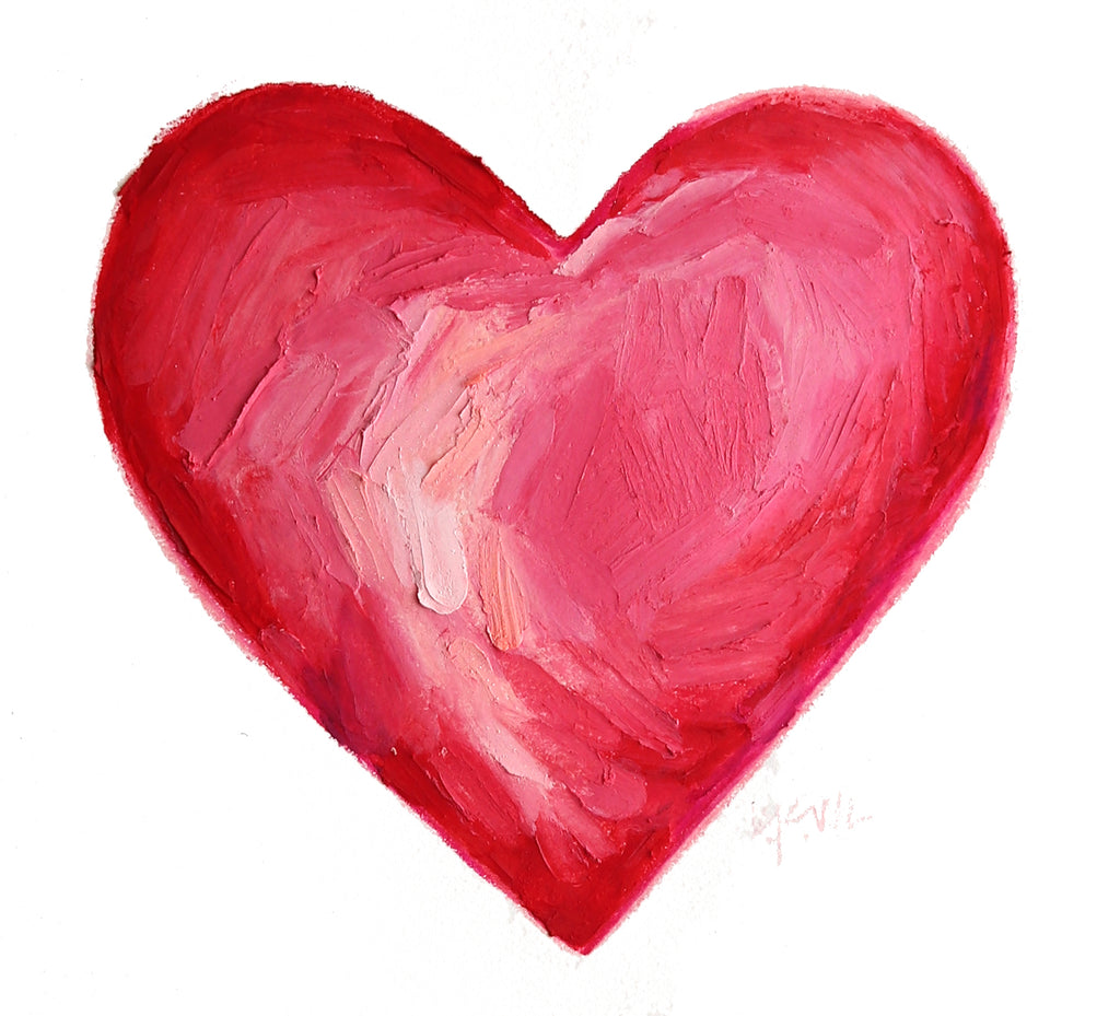 Original Art | Deep Pink Heart