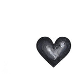 Original Art | Black & Silver Mini Heart