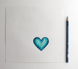 Original Art | Turquoise Mini Heart