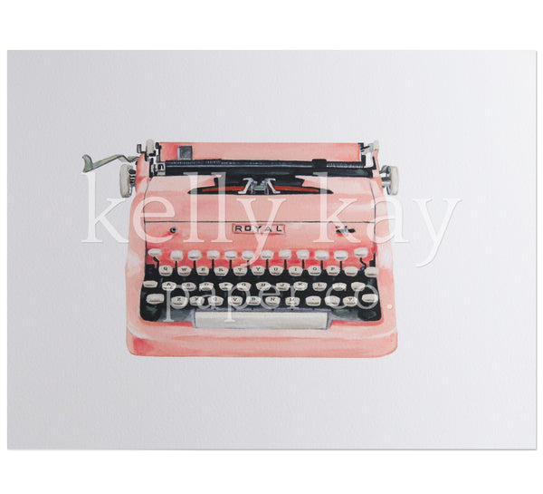 Art Print | Pink Typewriter