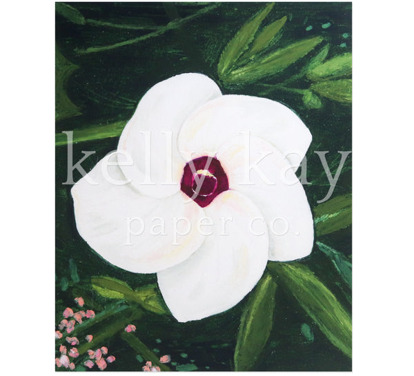 Art Print | Purple-Eyed Flower