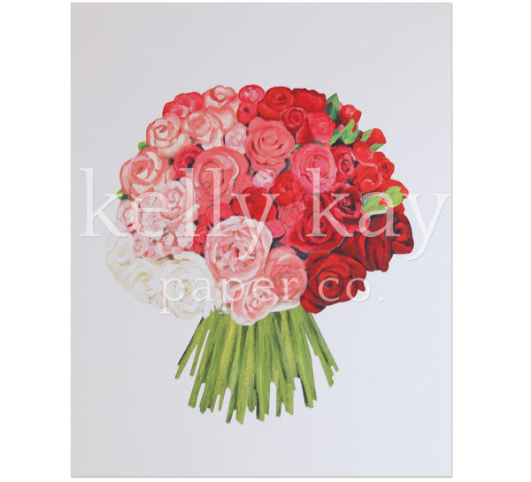 Art Print | Rose Bouquet
