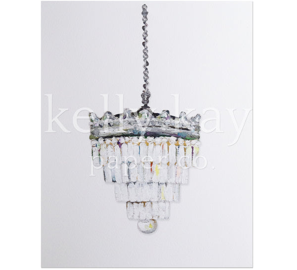 Art Print | Tiered Chandelier
