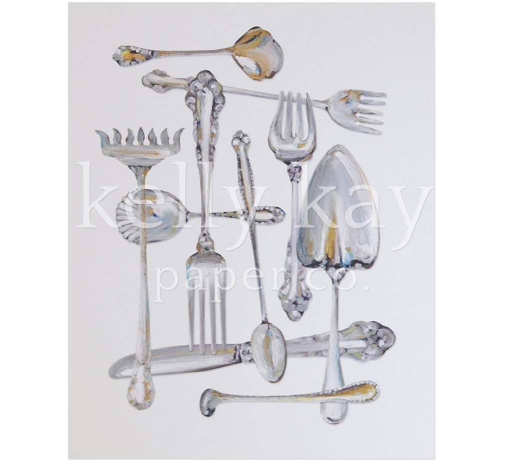 Art Print | Sterling Flatware