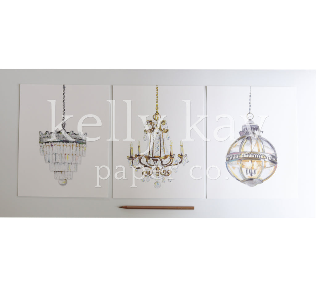 Art Print | Chandelier Set/3