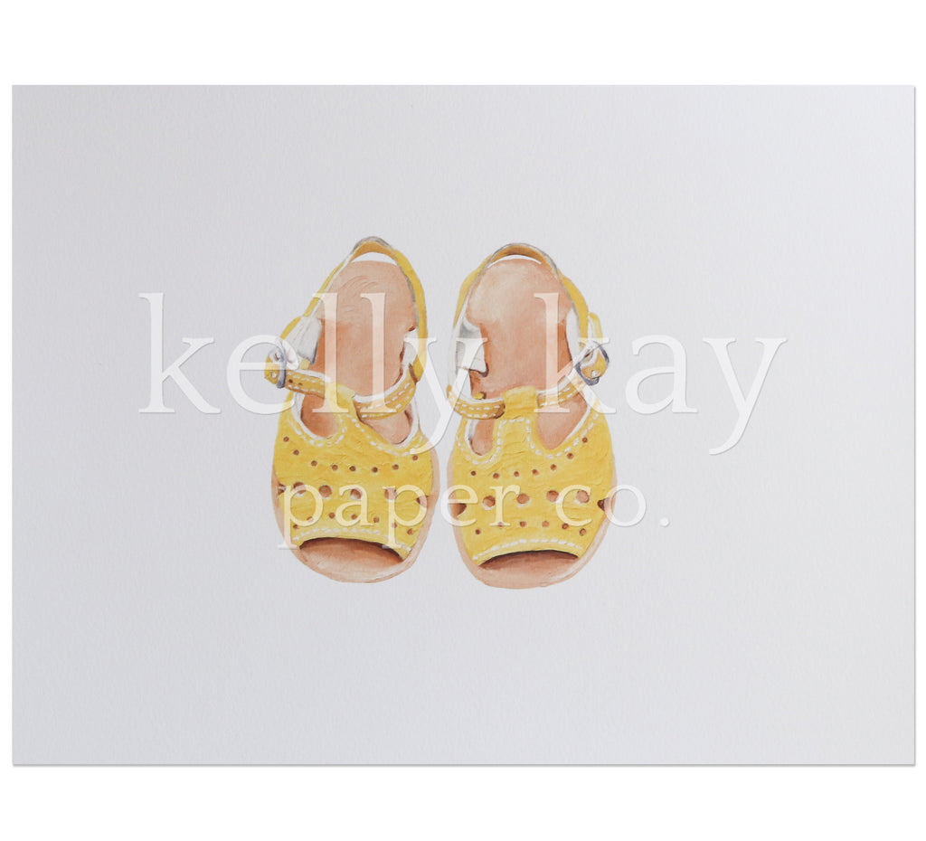 Art Print | Yellow Shoes