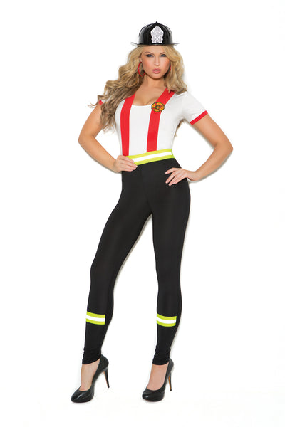 Light My Fire Hero - 2 pc. costume includes pants with  attached suspenders and a short sleeve top