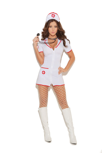 Head Nurse - 2 pc. costume includes zip front mini dress  and head piece