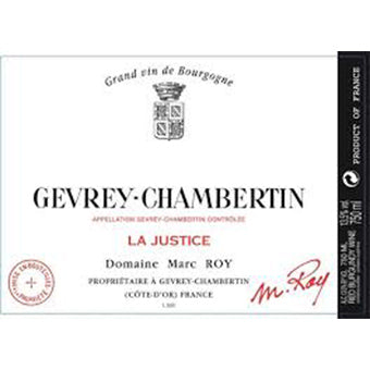 Gevery Chambertin La Justice Marc Roy 2017