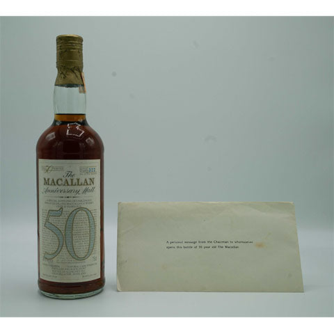 1928 MACALLAN 50YO ANNIVERSARY MALT, OB, 750ml, 38.6%