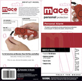 Mace Brand Personal Alarm Wristlet with LED Light (Red)