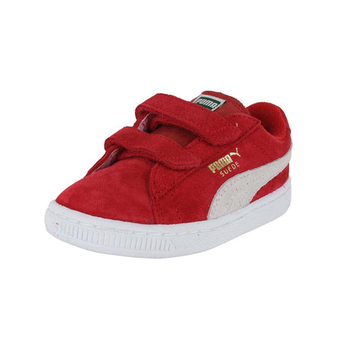TODDLERS (T) SUEDE 2 STRAPS HIGH RISK RED WHITE