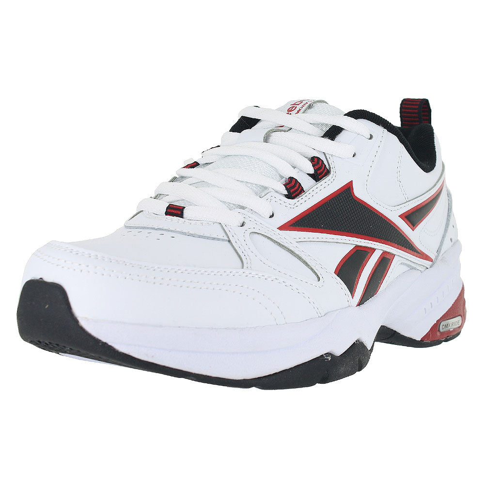 MENS ROYAL TRAINER MT 4E WIDE WHITE BLACK EXCELLENT RED