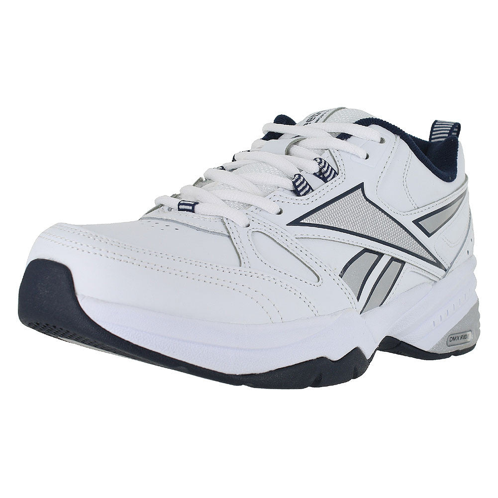 MENS ROYAL TRAINER MT 4E WIDE WHITE COLLEGIATE NAVY SILVER