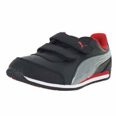 KIDS (K) Speed Light Up V BLACK LIMESTONE RED