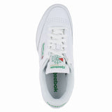 MENS CLUB C WIDE  WHITE GREEN