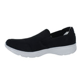MENS GO WALK 4 DELIVER SLIP ON BLACK GRAY