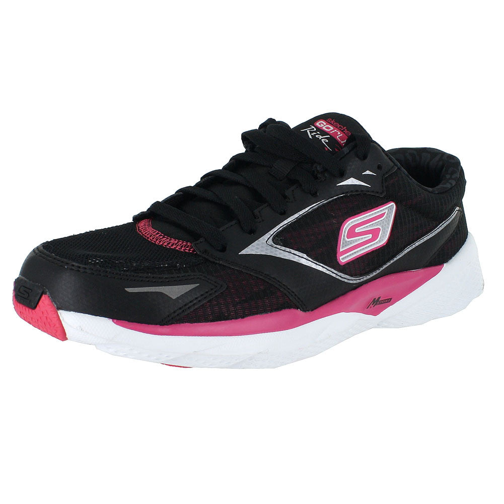 WOMENS GO RUN RIDE 3 CONTEND  BLACK HOT PINK